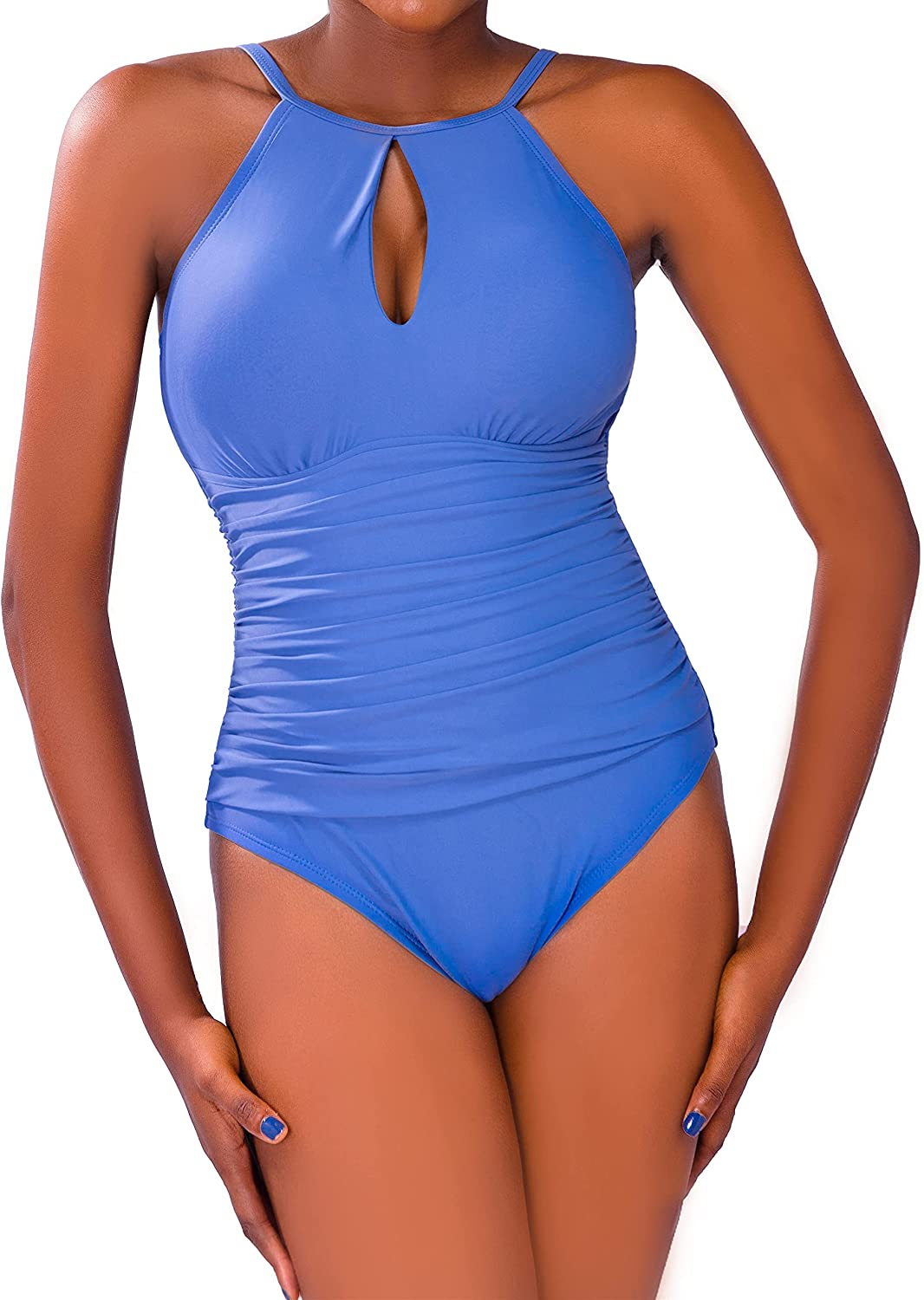 ROSEZUZU Women's one Piece High quality Max 70% OFF Swimsuit Solid Control an Tummy Color