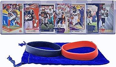 New England Patriots Cards: Tom Brady, Rob Gronkowski, Devin McCourty, Julian Edelman, Josh Gordon, James White, Demaryius Thomas ASSORTED Trading Cards and Wristbands Bundle