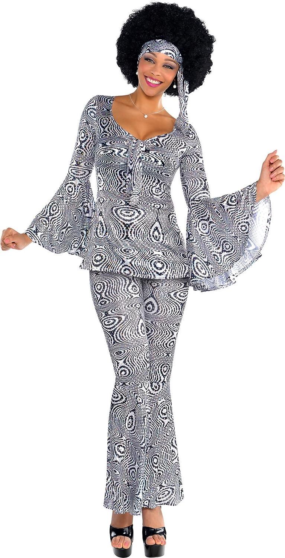 Erdbeerclown Damen Karnevals Komplettkostüm Glam Dancing Queen, L, Silber B07D2CGR1W Erste in seiner Klasse    | Roman