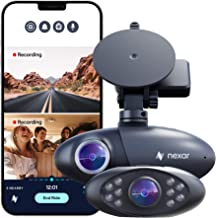 Nexar Pro GPS | Dual Dash Cam System | New 2021 Model | SD Card Included | Road & Interior Recording | Unlimited Cloud Sto...
