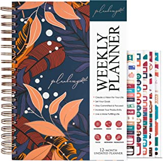 $27 » Sponsored Ad - PLANBERRY Weekly Planner Large – 8x10.4″ Elegant Life & Budget Planner to Hit Your Goals & Live Happier - O...