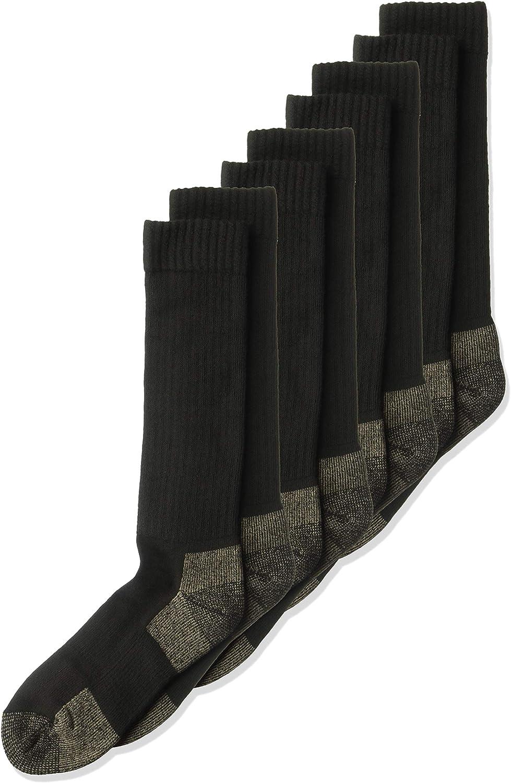 Carolina Ultimate mens Steel Toe Boot Cushion Over the Calf Socks 4 Pair Pack
