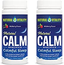 Natural Vitality Natural Calm Specifics Calmful Sleep (Wildberry Flavor), 2 Pack