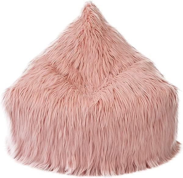 Mimish 收纳躺椅时尚收纳儿童和青少年喜马拉雅人造毛皮灰尘腮红