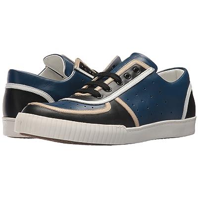 MARNI Perforated Sneaker (Black/Cobalt) Men