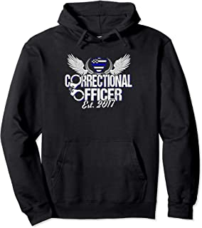 Corrections Officer Graduation 2017 Blue Line Design Pullover Hoodie