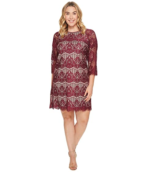 Adrianna Papell Plus Size Scalloped Lace Trapeze Dress At 6pm