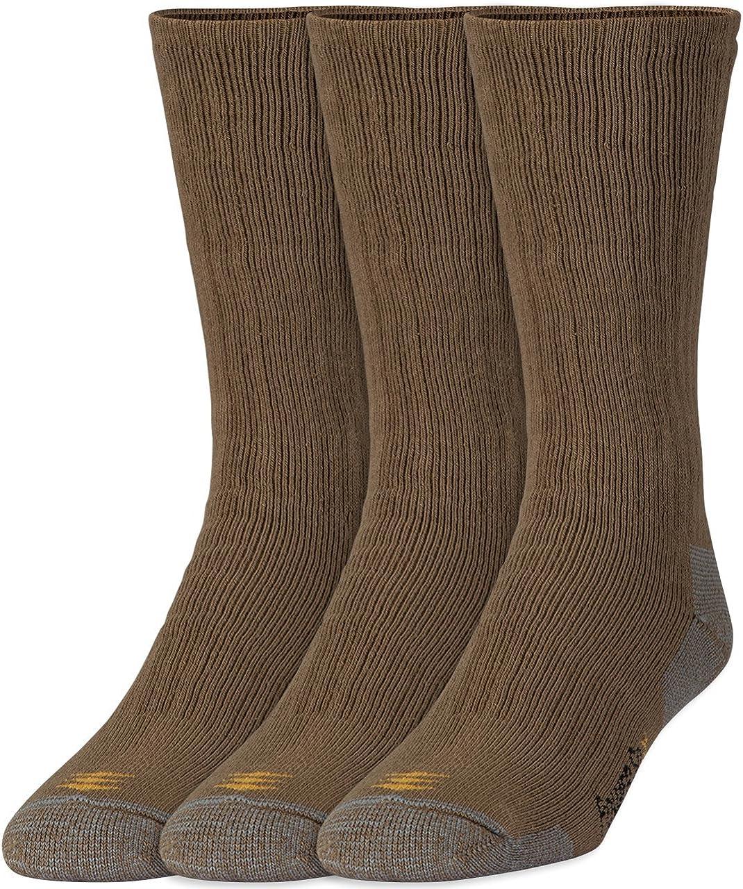 PowerSox mens Bootsocks Medium Cushion Cotton Crew Socks, 3 Pairs