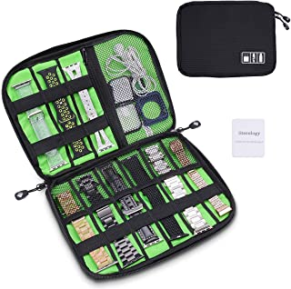 iiteeology Smartwatch Accessories Organizer, UniversalElectronics Accessories Travel Storage Bag for Watch Bands, Extra P...