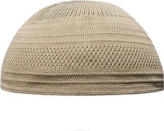 TheKufi Cotton Stretch-Knit Topi Kufi Skull Cap Comfortable Fit Beanie (L, Light Brown)