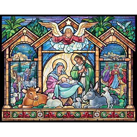 Vermont Christmas Company Advent Calendar BB862 Stained Glass Holy Night