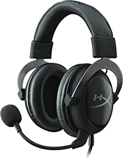 HyperX KHX-HSCP-GM Cloud II Gaming Headset for PC & PS4 & Xbox One, USB Audio Sound Card, 7.1 Virtual Surround Sound, Gun Metal KHX-HSCP-GM
