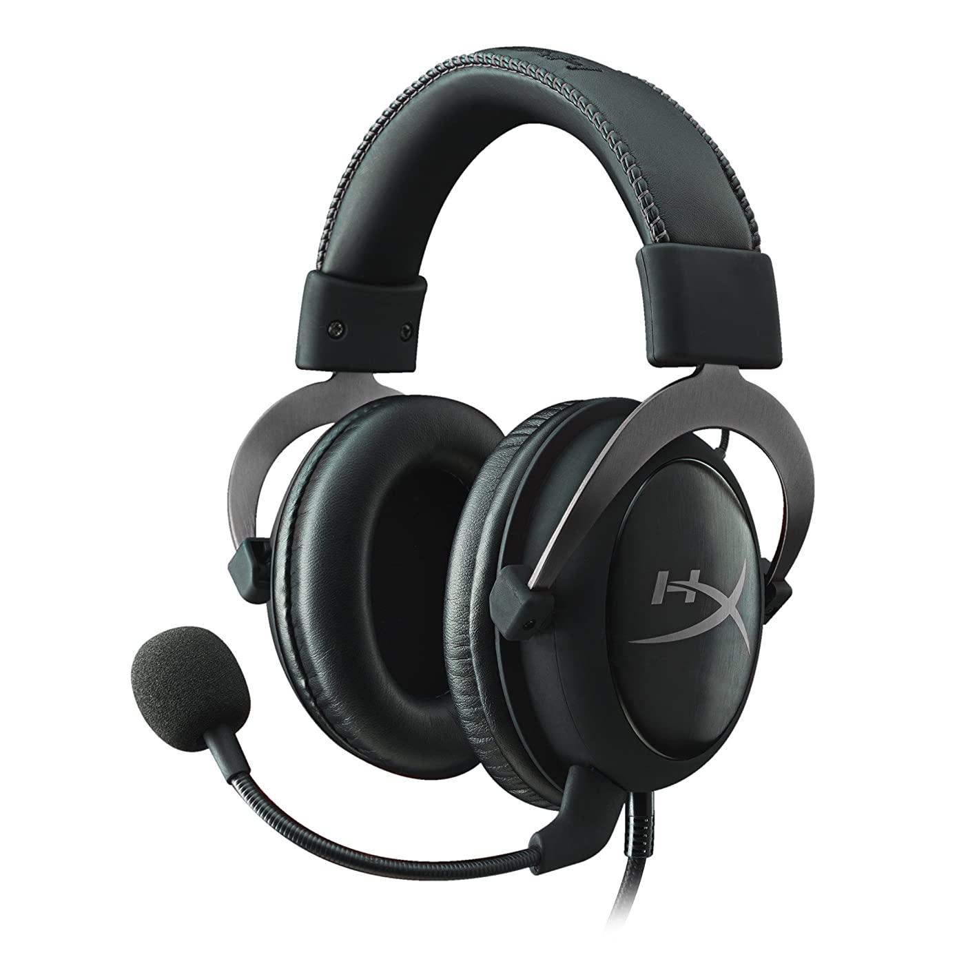 HyperX Cloud II Gaming Headset - 7.1 Surround Sound - Memory Foam Ear Pads - Durable Aluminum Frame - Works with PC, PS4, PS4 PRO, Xbox One, Xbox One S - Gun Metal (KHX-HSCP-GM)