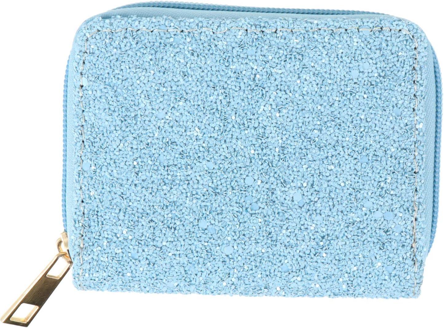 Amosfun Women Coin Purse PU Leather Coin Pouch Small Zipper Storage Bag Women Wallet
