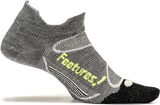 ! - Elite Merino+ Ultra Light - No Show Tab - Gray/Reflector - Size Small - Athletic Running Socks