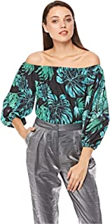 2Xtremz Floral Print Off Shoulder Top for Women