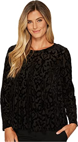 Nally & Millie - Velvet Burnout Tunic with Back Pleat