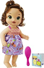 BABY ALIVE READY FOR SCHOOL BABY: Brown Hair Baby Doll, School-Themed Dress, Doll Accessories Include Notebook & Brush, Doll For 3-Year-Old Girls and Boys and Up