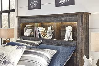 Signature Design By Ashley - Drystan Full Bookcase Headboard - Brown