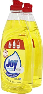 JOY Dishwashing Liquid Lemon 500Ml X2, 150 count