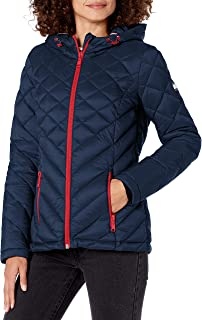 womens Short Hooded and Quilted Packable Jacket