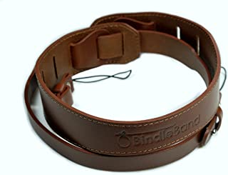 BindleBand Leather Camera Strap Wide with Comfort Curve for Mirrorless and DSLR Cameras, Dark Brown