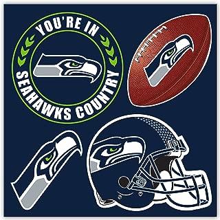 NFL Seattle Seahawks Seattle Seahawks 4-Piece Magnet Set, Navy,