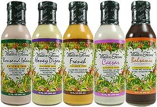 Walden Farms Salad Dressing - Thousand Island-Honey Dijon- French- Caesar- Balsamic Vinaigrette - Calorie Free, Fat Free, Gluten Free, Sugar Free - Variety Pack 5x12 Fl Oz