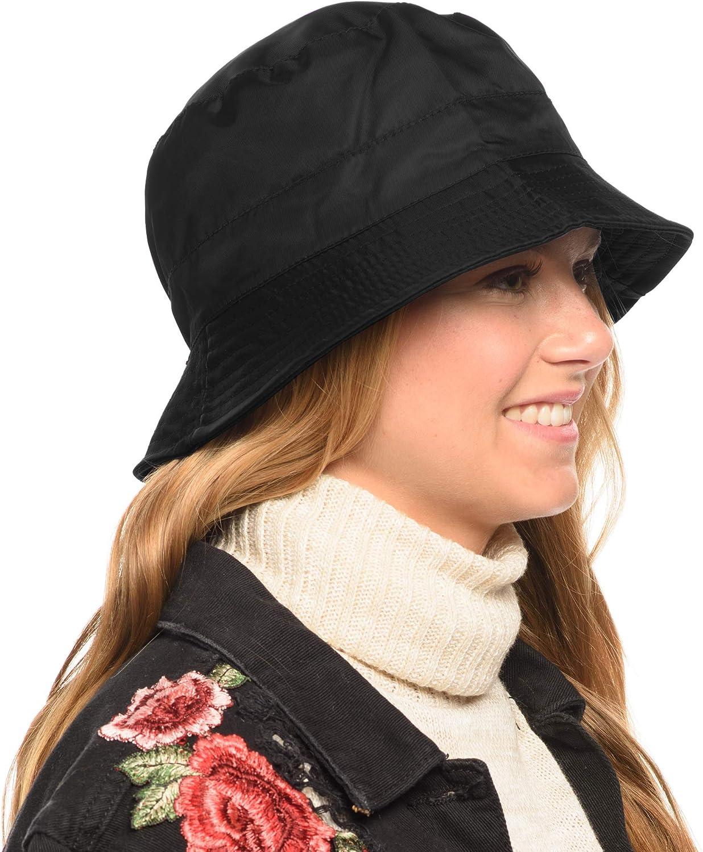 Adjustable Waterproof Bucket Rain Hat in Nylon, Easy to fold CL3056