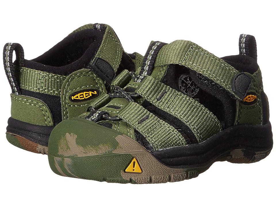 Keen Kids Newport H2 (Toddler) (Crushed Bronze Green) Boys Shoes