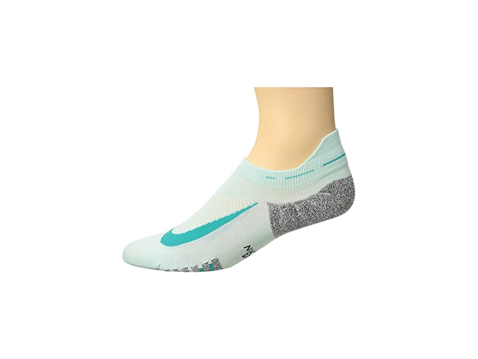 Nike Elite Lightweight No Show Running Socks (Igloo/Turbo Green) No Show Socks Shoes