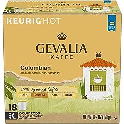 Gevalia Colombian Medium Roast Keurig K Cup Coffee Pods (18 Count)