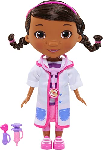 high quality Doc McStuffins online Toy Hospital Doc 8.5 Inch Articulated Doll with Doctor Accessories, online by Just Play sale