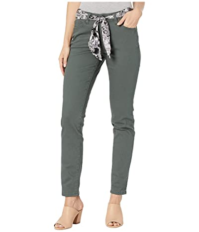 Jag Jeans Carter Girlfriend Jeans with Satin Belt (Juniper) Women