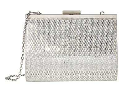 Jessica McClintock Mckayla (Silver) Clutch Handbags