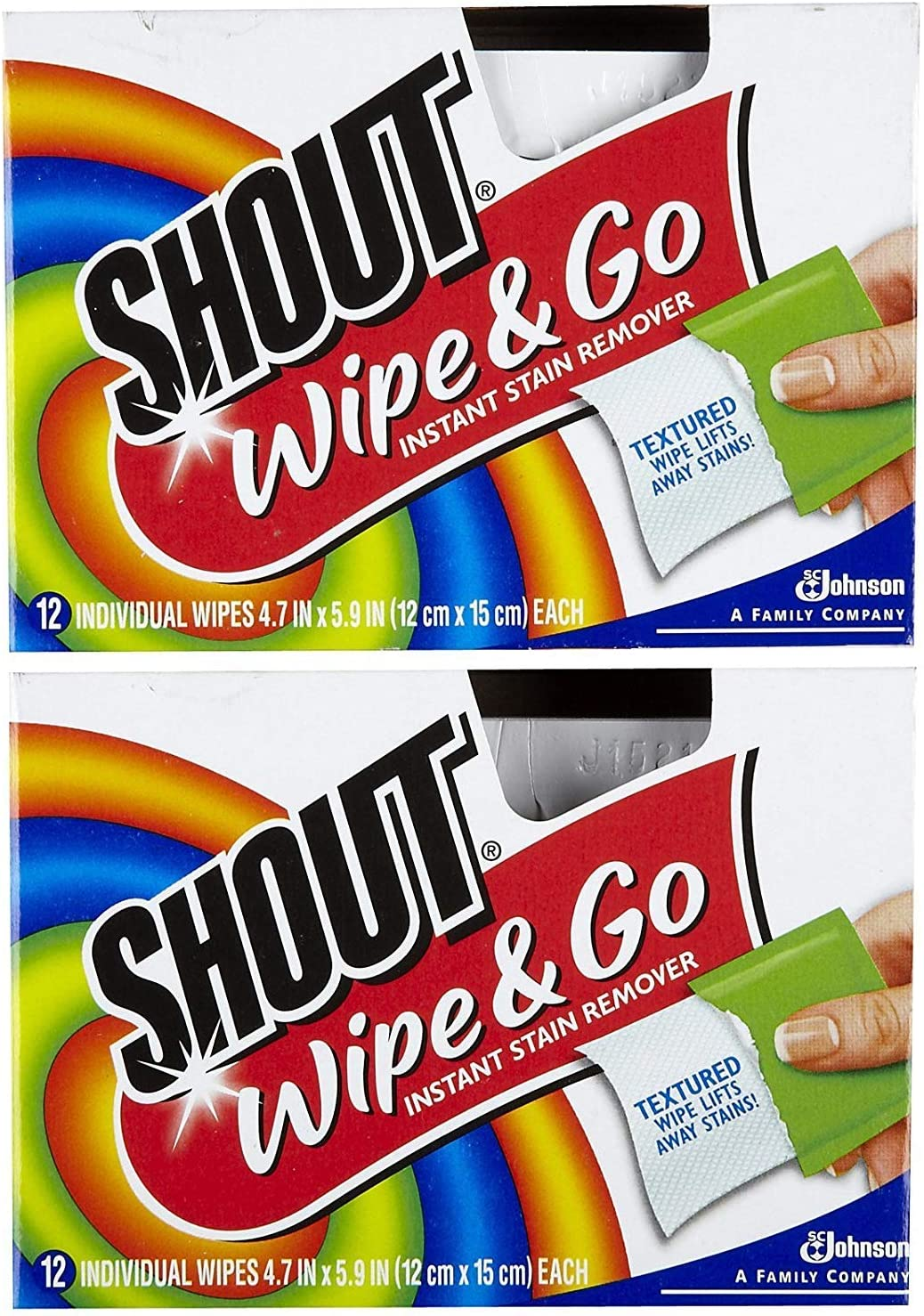Max 53% Ranking TOP1 OFF Shout Stain Remover Wipes - pk 12 ct 2