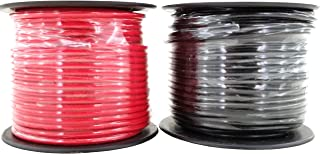 14 Gauge Copper Clad Aluminum CCA Flexible Low Voltage Primary Wire in 100 ft Roll Red Black Combo (200 Feet Total) for Car Audio Video 12 Volt Trailer Harness Wiring