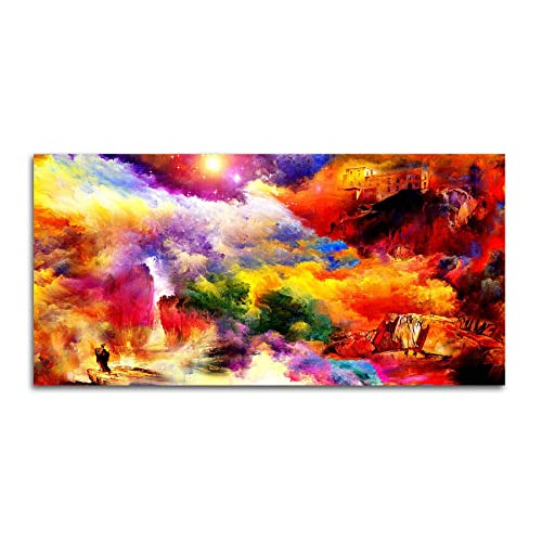 Tamatina Modern Art Canvas A Hint of Heaven Abstract Paintings, 152 X 76cms (Multicolour)