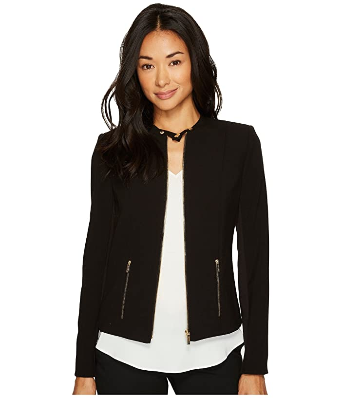 Calvin Klein Lux Jacket with Zip (Black) Women