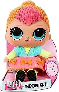 LOL Surprise Zachte Pluche Pop- Knuffelpop met Zachte Vulling en Uitrekbare Outfit - Neon QT