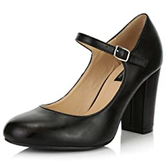 9f425b555cd7 Chunky heel round toe patent leather shoe - Casual Women s Shoes