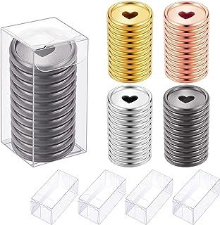 44 Pièces Disques de Reliure Mini Disques de Reliure en Plastique Disques à Anneaux de Reliure Disques d'Extension Disques...