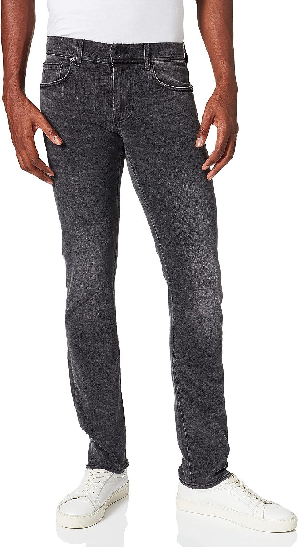 Armani Exchange Slim Medium Grey Wash with Abrasion Details Jeans para Hombre