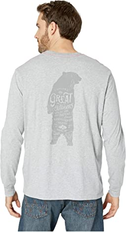 Vintage Great Outdoors Screen Print Long Sleeve Tee