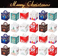 Alimentari Biscotti Howaf 12 Pezzi Scatole Regalo di Natale Natale Sacchetti di Carta per bomboniere Natalizie 2.4  x 3.6 x 6 .1 Caramelle