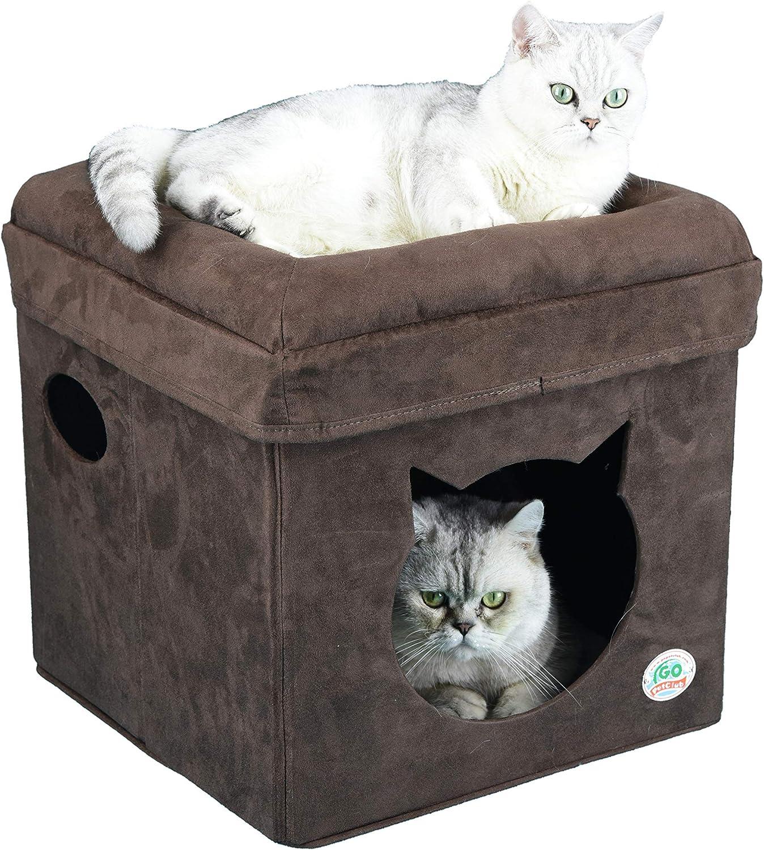 Go Pet Club F883 Comfy Cube Cat Furniture, Brown