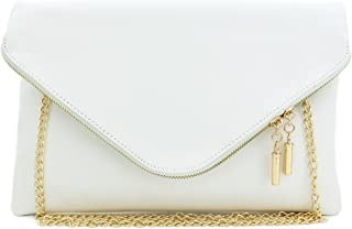 Large Envelope Clutch Bag with Chain Strap