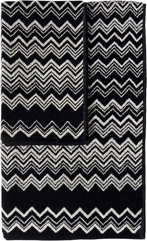 Missoni home,set di 2 asciugamani,100% spugna di cotone Keith – 601