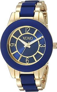 ساعة اكس او اكس او للنساء انالوج كوارتز مع حزام معدني، درجتين، 10 (XO266)