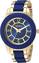 XOXO Women's Analog-Quartz Watch with Alloy Strap, Two Tone, 10 (Model: XO266)